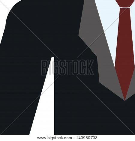 necktie suit businessman cloth male man icon. Isolated and flat illustration. Vector graphic