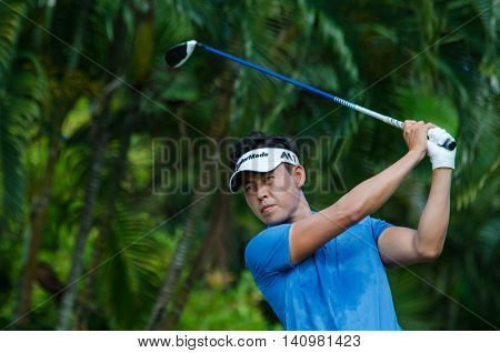 CHONBURI - JULY 31 : Daniel IM of USA in King's Cup 2016 at Phoenix Gold Golf & Country Club Pattaya on July 31 2016 in Chonburi Thailand.