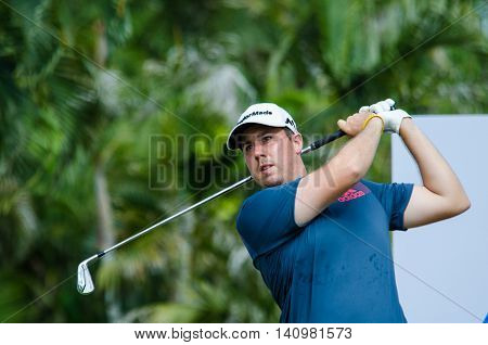 CHONBURI - JULY 31 : Ryan Evans of England in King's Cup 2016 at Phoenix Gold Golf & Country Club Pattaya on July 31 2016 in Chonburi Thailand.
