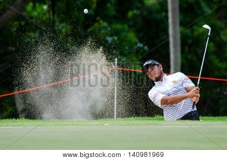 CHONBURI - JULY 31 : Chinnarat Phadungsil of Thailand in King's Cup 2016 at Phoenix Gold Golf & Country Club Pattaya on July 31 2016 in Chonburi Thailand.