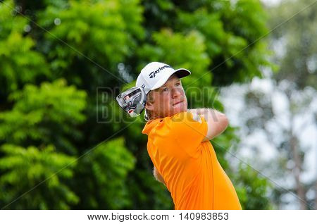 CHONBURI - JULY 31 : Dean Burmester of South Africa in King's Cup 2016 at Phoenix Gold Golf & Country Club Pattaya on July 31 2016 in Chonburi Thailand.