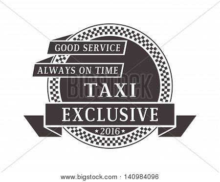 Vintage and modern taxi logos taxi label, taxi badge and design elements. Taxi service business sign template