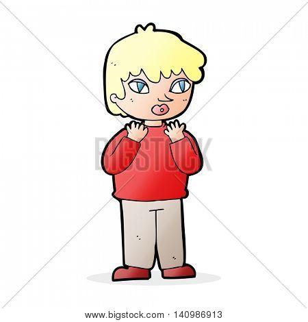 cartoon worried person