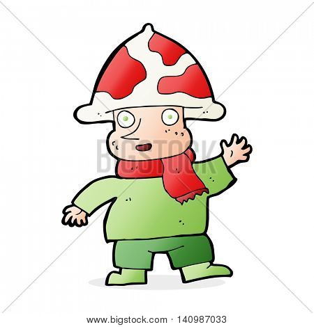cartoon mushroom man