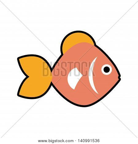 fish sea life marine aquatic swim icon. Isolated and flat illustration. Vector graphic
