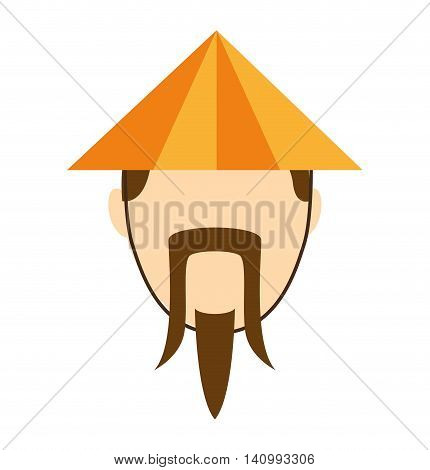 japanese culture hat icon vector illustration icon