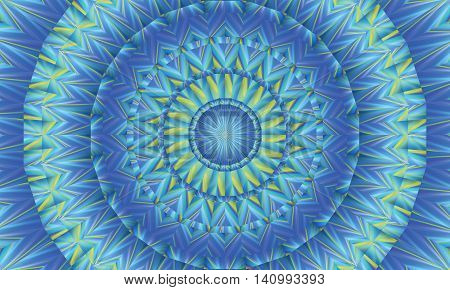 Concentric colorful kaleidoscopic background / Mantra background