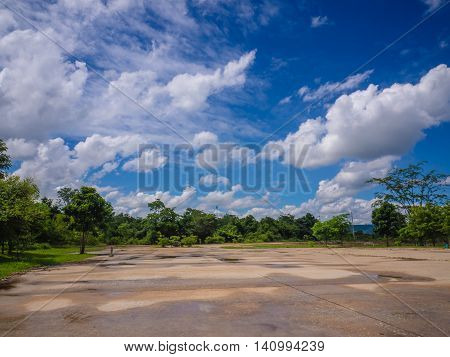 blue sky background with tiny clouds. beautiful