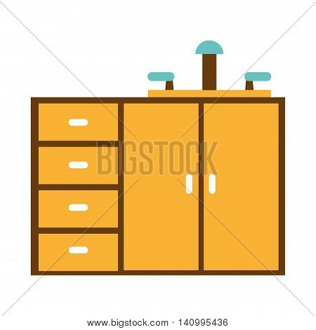 kitchen drawers isolated icon vector illustration graphic