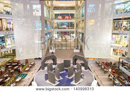 KUALA LUMPUR, MALAYSIA - CIRCA MAY, 2016: interior of a shopping center in Kuala Lumpur. Kuala Lumpur has numerous shopping centers.