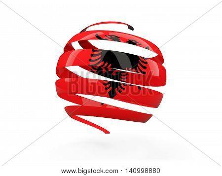 Flag Of Albania, Round Icon