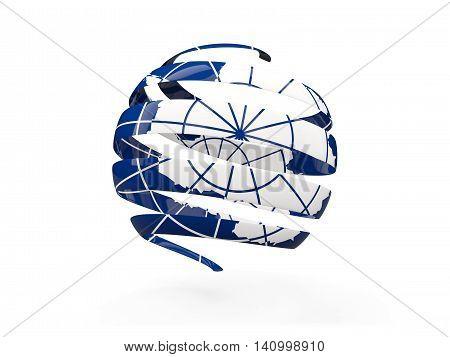 Flag Of Antarctica, Round Icon