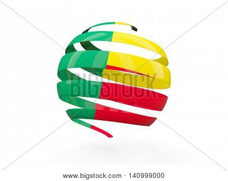 Flag Of Benin, Round Icon