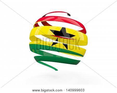 Flag Of Ghana, Round Icon