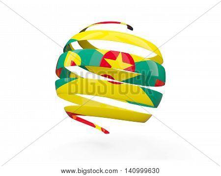 Flag Of Grenada, Round Icon