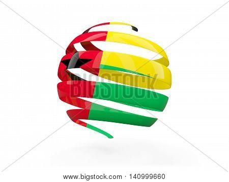 Flag Of Guinea Bissau, Round Icon