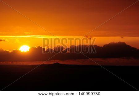 Sun Heads Behind A Cloudscape