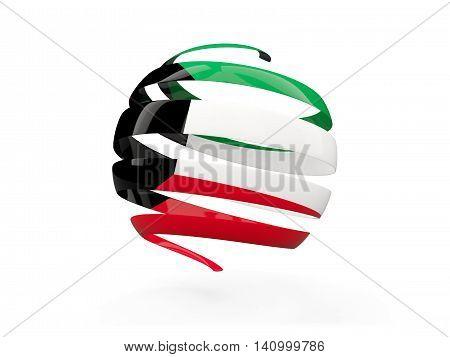 Flag Of Kuwait, Round Icon