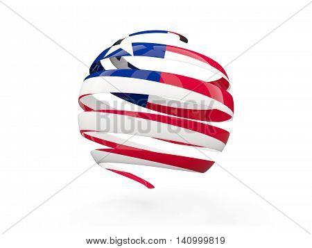 Flag Of Liberia, Round Icon