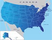 picture of usa map  - Political map of USA - JPG