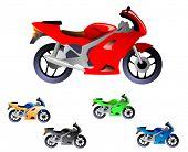 Постер, плакат: Спортивный мотоцикл