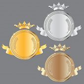 award set - vector medals