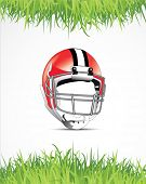 stock photo of football helmet  - american football poster - JPG