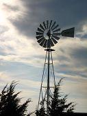 Windmill W/ Dark Storm Clouds