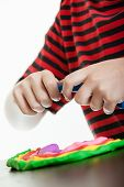 Colorful Design Of Modeling Putty Made By A Boy poster