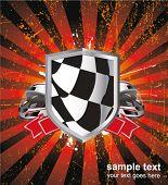 Постер, плакат: гонки знак на заднем плане Рэй