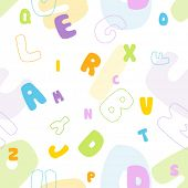 stock photo of verbs  - Seamless vector alphabet pattern - JPG