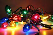 foto of christmas lights  - Christmas lights - JPG