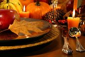 Details for aThanksgiving table