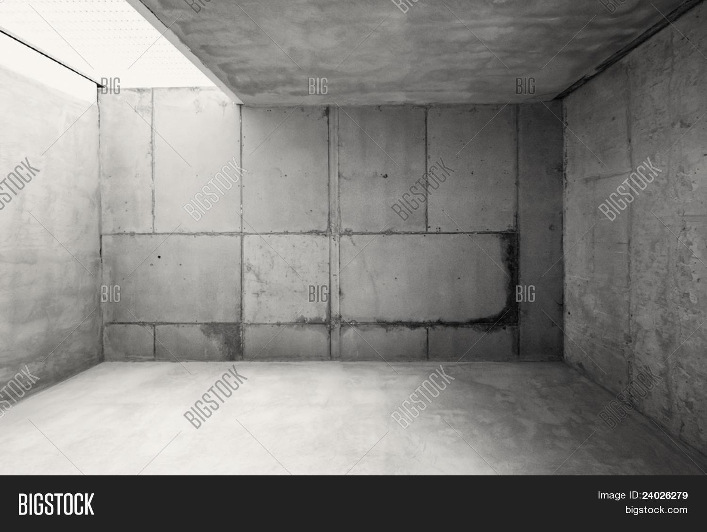 Empty Warehouse Room Concrete Walls Image & Photo | Bigstock