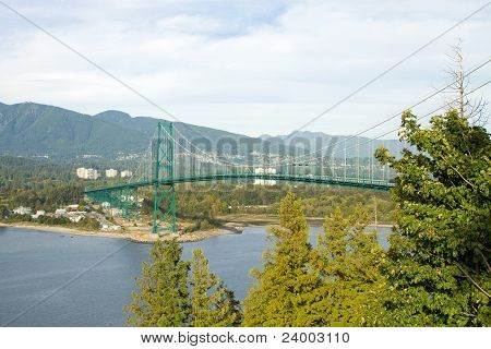 Lions Gate Bridge In Vancouver Bc Canada