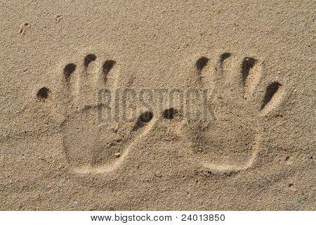 Human Hand Prints