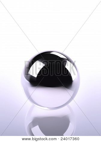 Chrome Ball In Violet Light