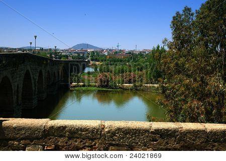 Roman Bridge Over Guadiana River