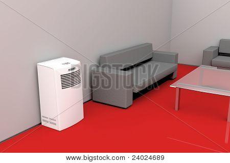 Modern Living Room - Cooling Concept