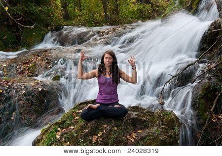 Attractive Girl Meditating