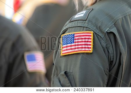 American Flag Patch On A