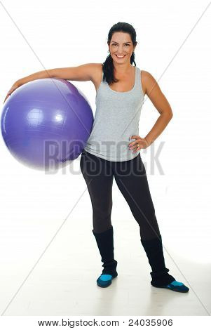 Happy Fitness Trainer Woman