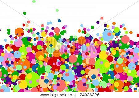 Fundo branco com muitos Balls.eps multicoloridas