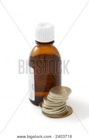 Bottle Of A Liquid Medicine
