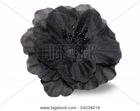 Black fabrics flower