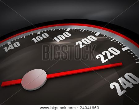 3D Speedometer. Hi res rendering. Realistic version.