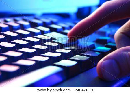 Vista de closeup de teclado