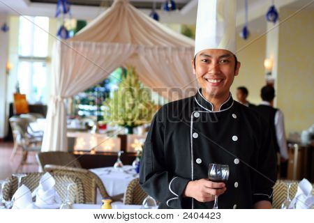 Chef At Restaurant