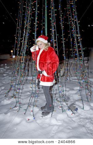 Angel Next To Christmas Lights1 075 Copy