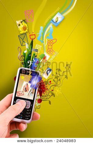 creative design mobile phone